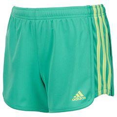 Girls 7-16 adidas Three Stripe Mesh Shorts