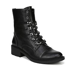 7556d48630afc Circus by Sam Edelman Dacey Women s Combat Boots. Silver Black