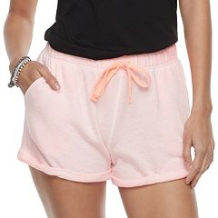 Juniors' SO® Cuffed French Terry Shorts