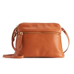 R&R Leather Tapered Crossbody Bag