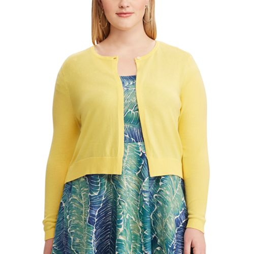 Plus Size Chaps Crop Cardigan