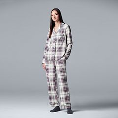 Women's Simply Vera Vera Wang 3-piece Velour Top & Pants Pajama Set