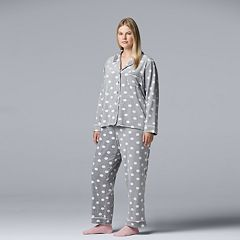 Plus Size Simply Vera Vera Wang 3-piece Velour Top & Pants Pajama Set
