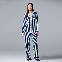 Petite Simply Vera Vera Wang 3-piece Velour Top & Pants Pajama Set
