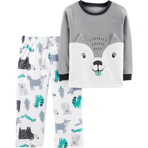 Toddler Boy Carter's Microfleece Critter Top & Bottoms Pajama Set