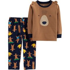 Toddler Boy Carter's Microfleece Critter Top & Bottoms Pajama Set