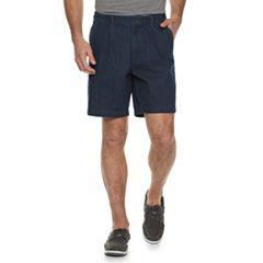 Men's Croft & Barrow® Classic-Fit Flex-Tab Pleated Denim Shorts