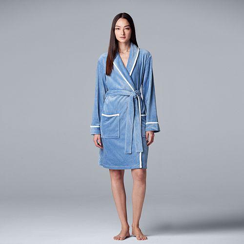 Women's Simply Vera Vera Wang Velour Wrap Robe