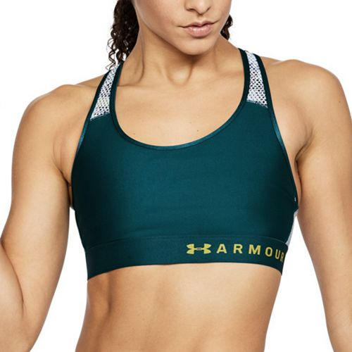 Under Armour Mid Keyhole Mesh Medium-Impact Sports Bra 1307198