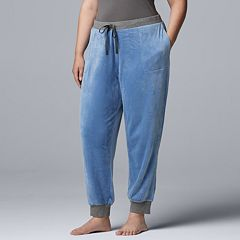 Plus Size Simply Vera Vera Wang Plush Joggers