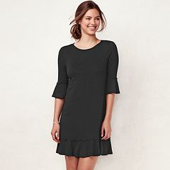 Women's LC Lauren Conrad Ruffled T-Shirt Dress