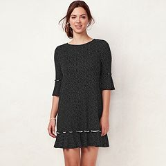Women's LC Lauren Conrad Ruffled T-Shirt Dress