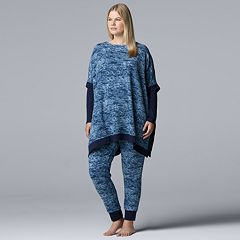 Plus Size Simply Vera Vera Wang Asymmetrical Tunic & Leggings Pajama Set