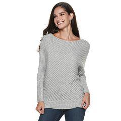 Women S Jennifer Lopez Variegated Rib Dolman Sweater