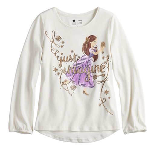 Disney's The Nutcracker and the Four Realms Toddler Girl Glittery Ballerina Graphic Top by Jumping Beans®