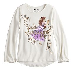 Disney's The Nutcracker and the Four Realms Girls 4-10 Glittery Ballerina Graphic Top by Jumping Beans®