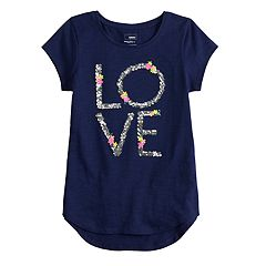 Girls 4-12 SONOMA Goods for Life™ Embellished Slubbed Tee