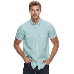 Men's SONOMA Goods for Life™ Modern-Fit Linen-Blend Button-Down Shirt