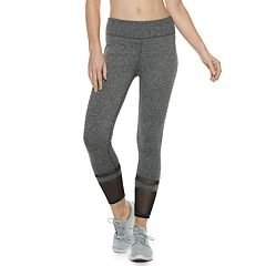Women's Adrienne Vittadini Power Mesh High-Waisted Leggings