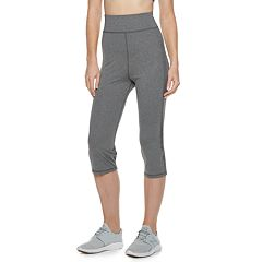Women's Adrienne Vittadini Open Mesh High-Waisted Capri Leggings