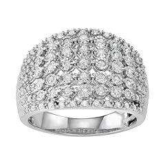 Women's Sterling Silver 1/2 ct Diamond Ring