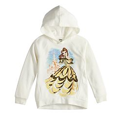 Disney's Beauty and the Beast Girls 4-10 Sequined Belle Hooded Pullover by Jumping Beans®
