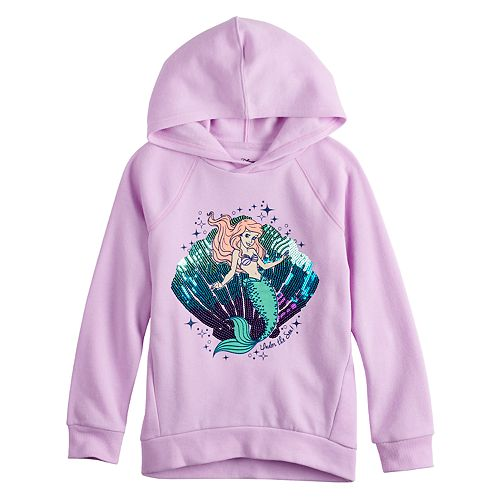 Disney's The Little Mermaid Ariel Girls 4-10 Sequined Graphic Hoodie by Jumping Beans®