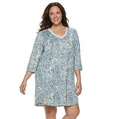 Plus Size Croft & Barrow® Whisper Luxe Sleepshirt