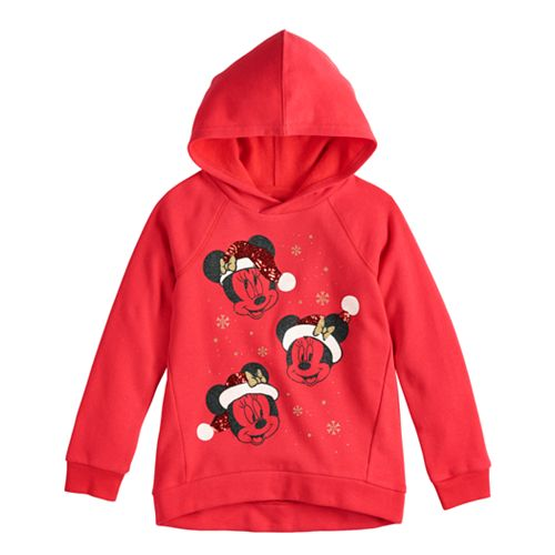 Disney's Minnie Mouse Toddler Girl Christmas Hooded Pullover by Jumping Beans®