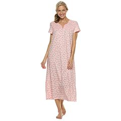 Women's Croft & Barrow® Smocked Long Nightgown