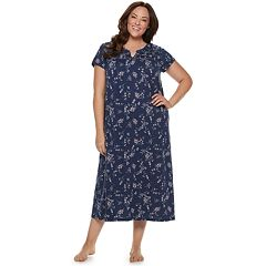 Plus Size Croft & Barrow® Smocked Long Nightgown