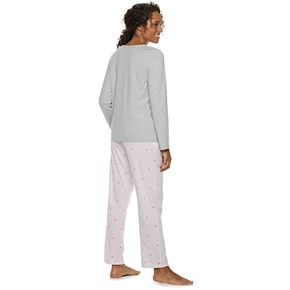 Women's Croft & Barrow® Valentine's Day Graphic Tee & Pants Pajama Set