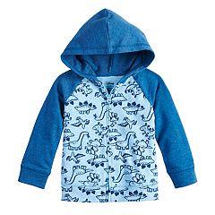 Baby Boy Jumping Beans® Dinosaur Raglan Zip Hoodie