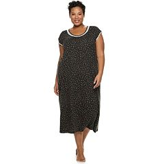 Plus Size Croft & Barrow® Printed Raglan Nightgown