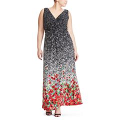 Plus Size Chaps Floral Maxi Dress