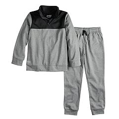 Boys 4-12 Jumping Beans® 1/4-Zip Pullover Jacket & Jogger Pants Set