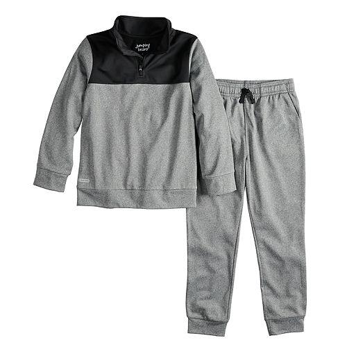 Boys 4-12 Jumping Beans® 1/4-Zip Pullover Jacket & Jogger Pants Set