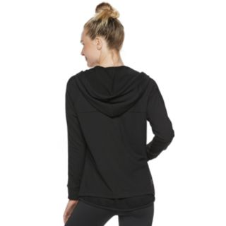 Women's Adrienne Vittadini Mesh Panel Zip Up Hoodie