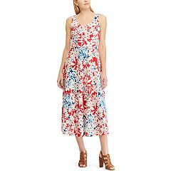Women's Chaps Embroidered Print Midi Dress