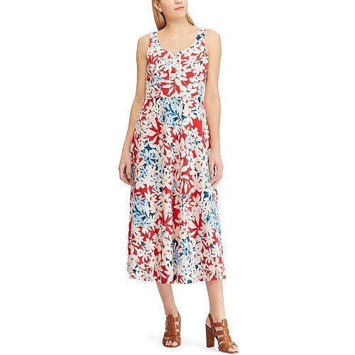 Women's Chaps Embroidered Print Midi Dress