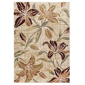 Lily Transitional Floral Rectangle Rug