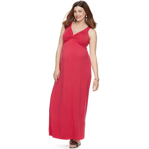 Maternity a:glow Knot Maxi Dress