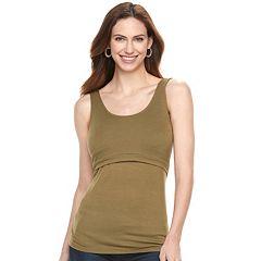 Maternity a:glow Popover Nursing Tank
