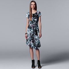 Women's Simply Vera Vera Wang Print Asymmetrical T-Shirt Dress