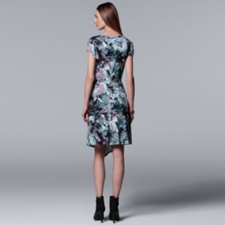 Women's Simply Vera Vera Wang Print Asymmetrical T-Shirt Dress