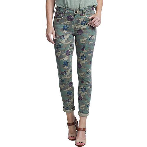 Women's Seven7 Camo High Rise Slim Straight-Leg Jeans