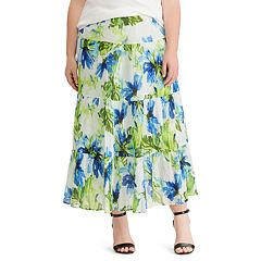 Plus Size Chaps Crinkle Skirt