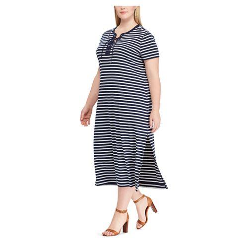 Plus Size Chaps Stripe Dress