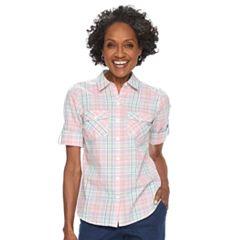 Petite Croft & Barrow® 2-pocket Button Down Shirt