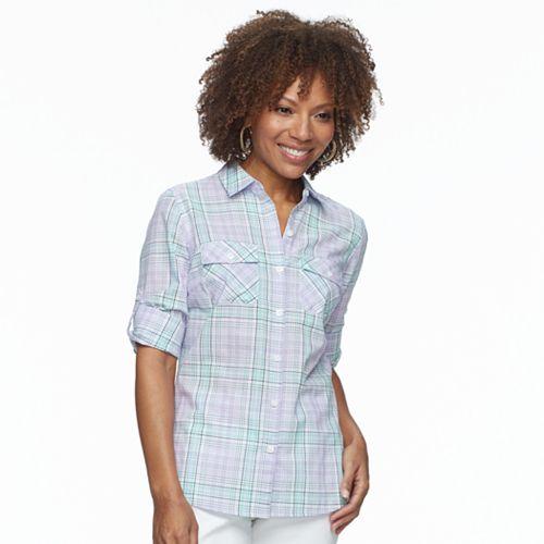 f56c820b31dc98 Petite Croft   Barrow® 2-pocket Button Down Shirt